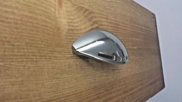 Chrome finish cup handle modern style 64mm screw centres CEN042